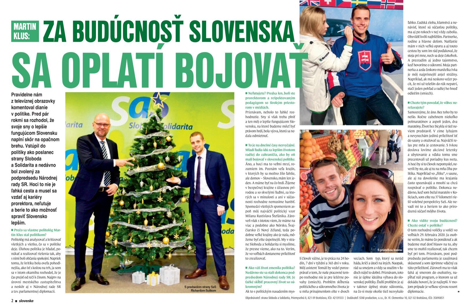 slovenka-martin-klus-za buducnost-slovenska-sa-oplati-bojovat